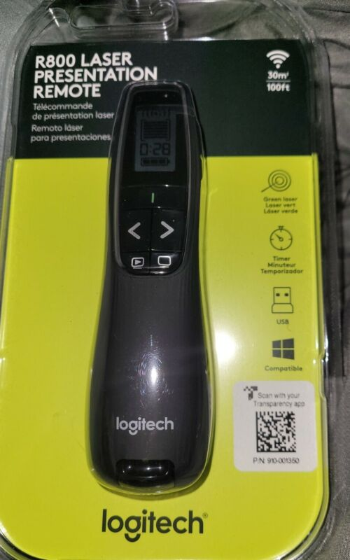 Logitech Wireless Presenter R800 With Laser Pointer Green