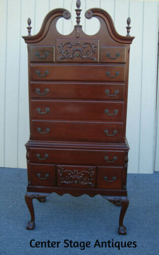 61676  Mahogany High Boy Dresser Chest