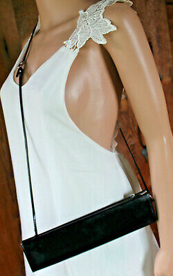 GUCCI~Evening Kisslock clutch~Black Patent Leather Bag Vintage 004 0645 1669