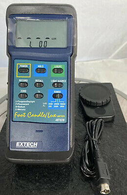 Extech 407026 Heavy Duty Foot Candle Lux Light Meter Pre-owned