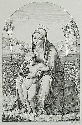JULIUS THAETER - Madonna - Carl Gottlieb Peschel - Radierung 1831