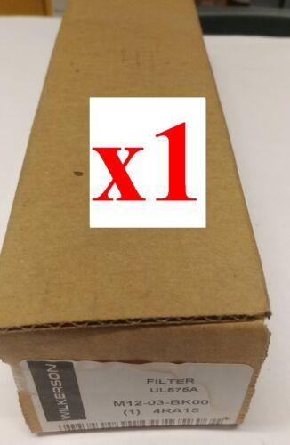 "NEW WILKERSON Coalescing Filter M12-03-BK00 3/8"" 4RA15 M12"