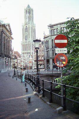 Street Scene Utrecht Netherlands Dom Tower 35mm Color Kodachrome Slide