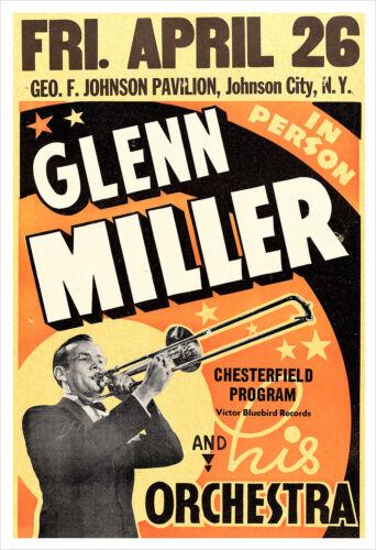 Glenn Miller 1940 concert poster print