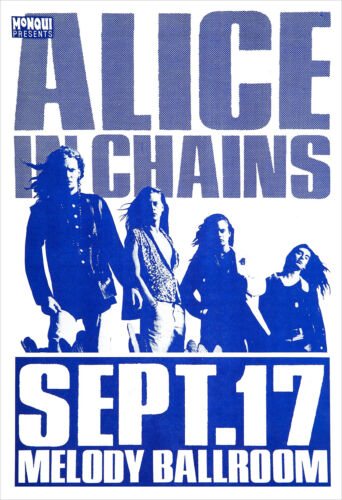 Alice in Chains 1992 Concert Poster print