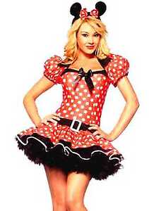 Woman-Minnie-Mouse-Fancy-Dress-Costume-With-Tutu-Under-Skirt-UK-6-8-10-12-14-16