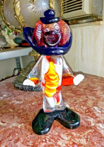 Vintage Italian Murano Glass Clown.