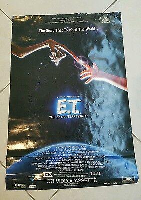 RARE! E.T. EXTRA TERRESTRIAL ORIGINAL 27X41 MOVIE POSTER 1982 Cassette Release
