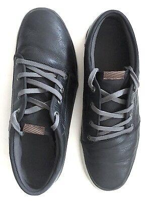 Leder Skateboard Schuh (Volcom Sneaker Leder Sportschuh FR 44,5  UK 10 Black  Streetwear Skateboard TOP)