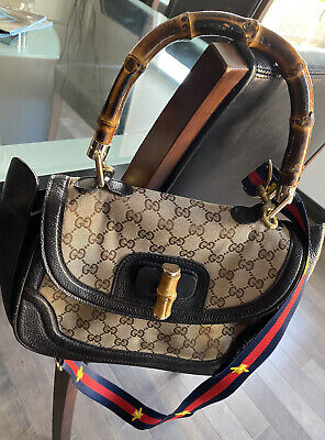 Vintage Gucci Bamboo Monogram 2way Bag