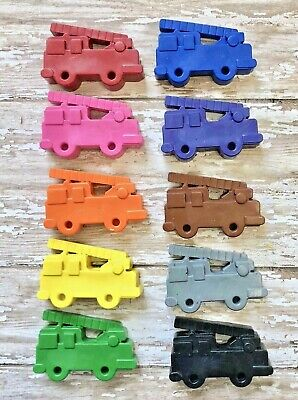10 Fire Truck Crayons Party Favors Fireman Birthday Loot Bag Fillers Hydrant