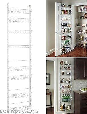 Over The Door Storage Rack Basket Shelf Kitchen Organizer Wall Holder Spice Herb