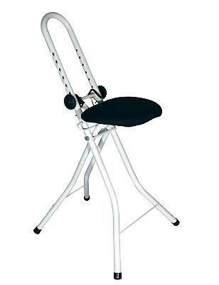 Stehhilfe Sitzhilfe Stehsitz Bügelhilfe höhenverstellbar Stehstuhl Bügelstuhl