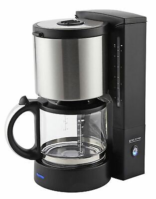 Edelstahl Glas Kaffeeautomat 1,25 Liter 10 Tassen 1080W Filter-Kaffeemaschine  - 1 Tasse Kaffeemaschine