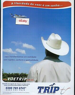 Usado, TRIP AIRLINES BRASIL DE HAVILLAND DASH 8 A LIBERDADE DE VOAR E UM SONHO 2005 AD  comprar usado  Enviando para Brazil