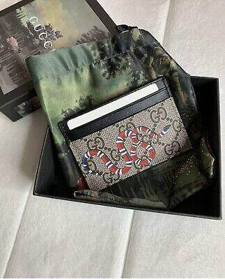 GUCCI GG Kingsnake Print Supreme Card Holder Wallet