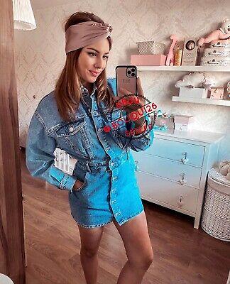 ZARA NEW WOMAN SHORT MINI DENIM SHIRT DRESS POCKETS BLUE XS-XXL 8197/081
