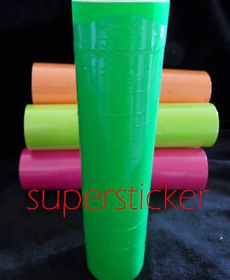 1 Tube X 5000 Tags Green Label Refill For Motex Mx-5500 L5500 Mx989 Price Gun