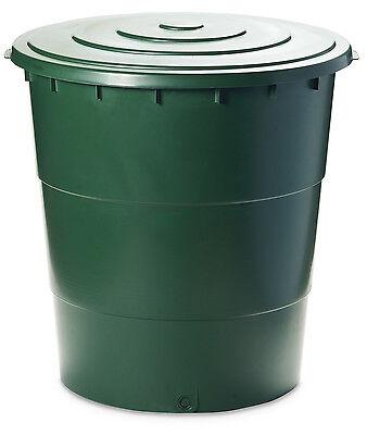 Ondis24 Wassertank Regentonne mit Deckel und Hahn Wassertonne Wasserfass 200 L
