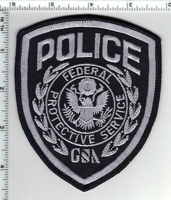 Federal Protective Services Gsa Police  Washington  Dc  Silver Shoulder Patch