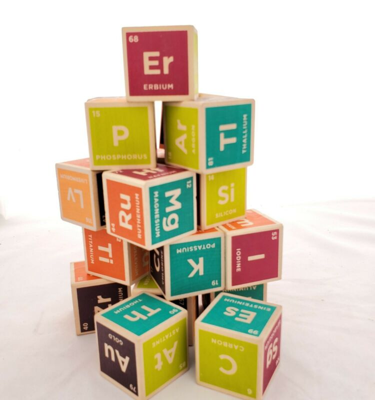 Uncle Goose Elemental Periodic Table Wooden Blocks