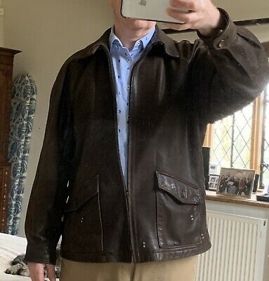 Brown Vintage Soft Sheep's Leather Jacket Size 42