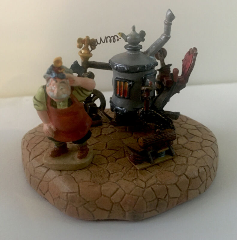 """Disney BEAUTY and The BEAST MINIATURE DIORAMA """"Invention With Maurice"""" Goebel"""