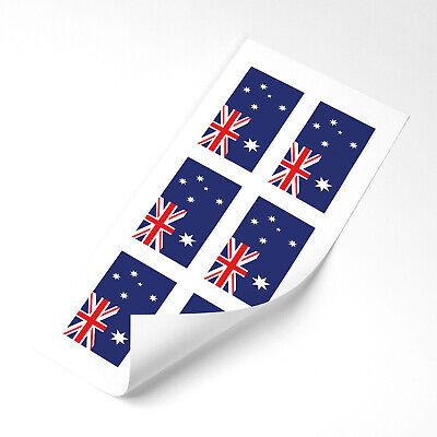 Australia Flag Stickers x6 25mm Car Motorbike Helmet Vinyl Australian Flag