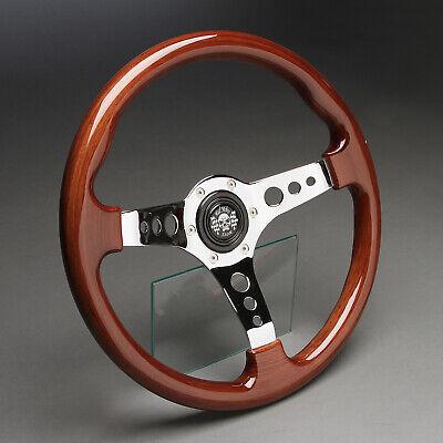 Usado, Holzlenkrad Sportlenkrad Holz 350mm Nabe Mercedes W201 W124 W126 W107 W123 W129 segunda mano  Embacar hacia Spain