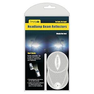 Anti-Scorch Headlamp Beam Deflectors Benders Converters Head Light Euro driving