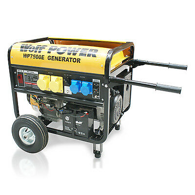 Wolf Generator 15HP 8.75KVA 7000W 110v 240v ELECTRIC START 4 Stroke Petrol