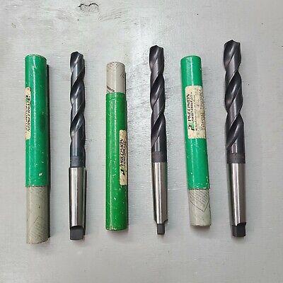 Nos Lot 3 Precision Twist Drill 1 5964 1316 Hss Bit 3 Taper Shank Usa 12
