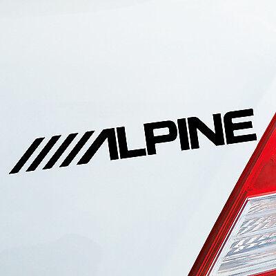 ALPINE Audio Musik Tuning Auto Motorrad Aufkleber Sticker DUB OEM JDM 079 Oem Audio