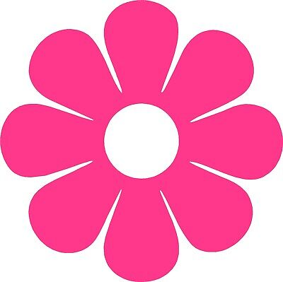 Home Decoration - 60's Flower Vinyl Decals Window Stickers Vehicle Graphics