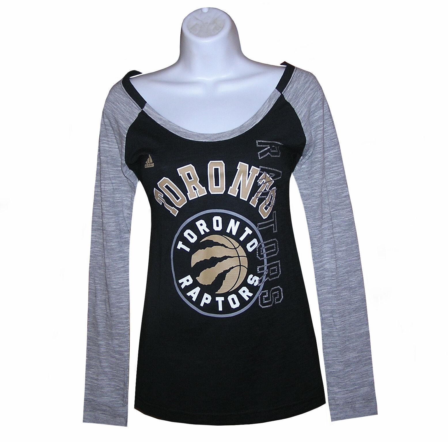 Nba Womens Apparel - Toronto Raptors Ladies ADIDAS Nba LS Te