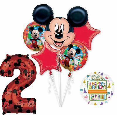 Mickey Birthday Decorations (Mickey Mouse Party Supplies 2nd Birthday Clubhouse Balloon Bouquet)