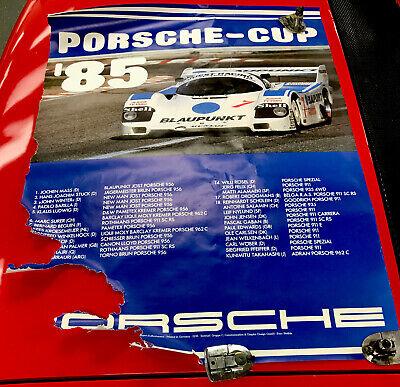 Original vintage 1985 Porsche Cup race poster 30x40 Racing IMSA Blaupunkt