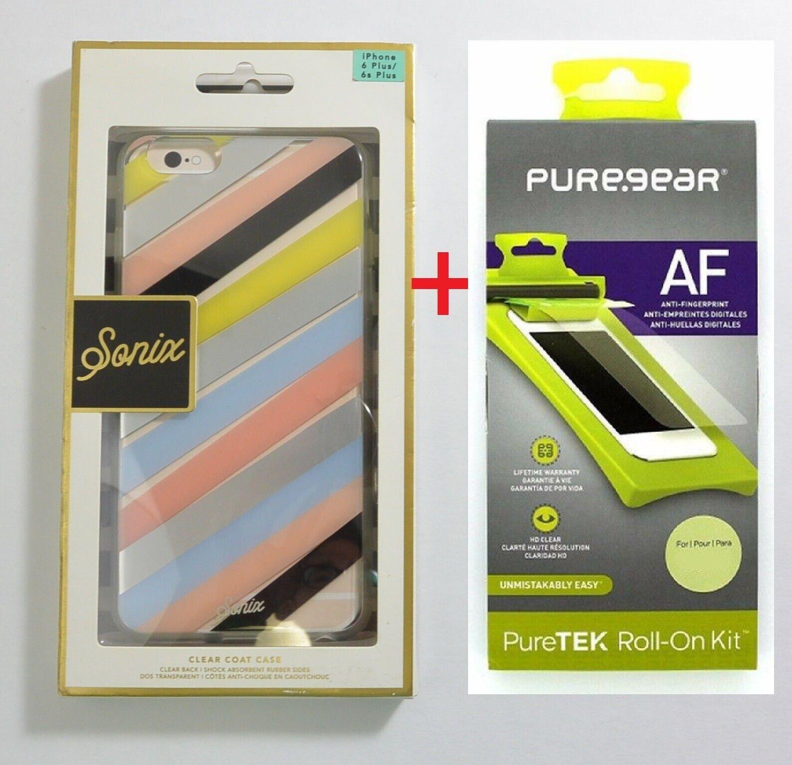 New OEM Sonix iPhone 6 Plus 6S Plus Checker Stripe Clear Coa