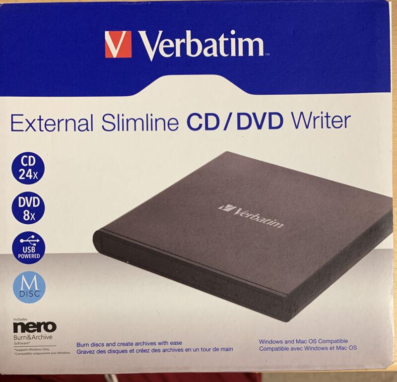 Verbatim External CD / DVD Writer 98938 with Nero Burn&Archive CD #OB9387