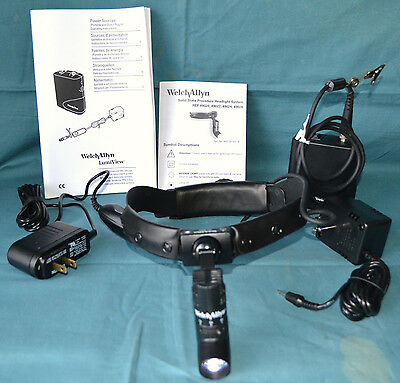 Welch Allyn Solid State 49020 Procedure Headlight System Case Battery