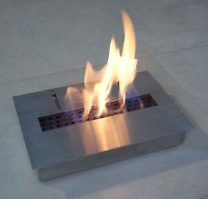 Bio Ethanol Gel Fuel Fireplace Firebox Insert Burner Stainless Steel 2 5l Ebay