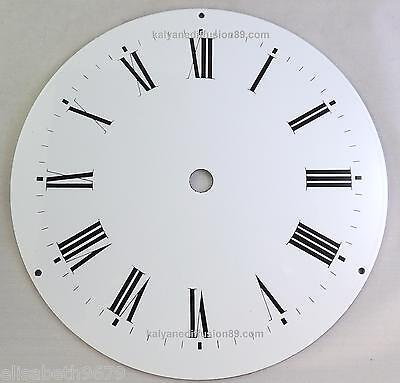 Cadran Emaile Pour Horloge Pendule Oeil De Boeuf 22 Cm