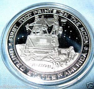 Moon Landing Silver Coin Apollo 11 Star Wars Trek Space NASA USA Sci-Fi Science