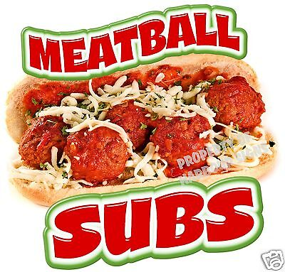 "Meatball Subs Sandwich Decal 14"" Concession Food Truck Vinyl Menu Sign Sticker"