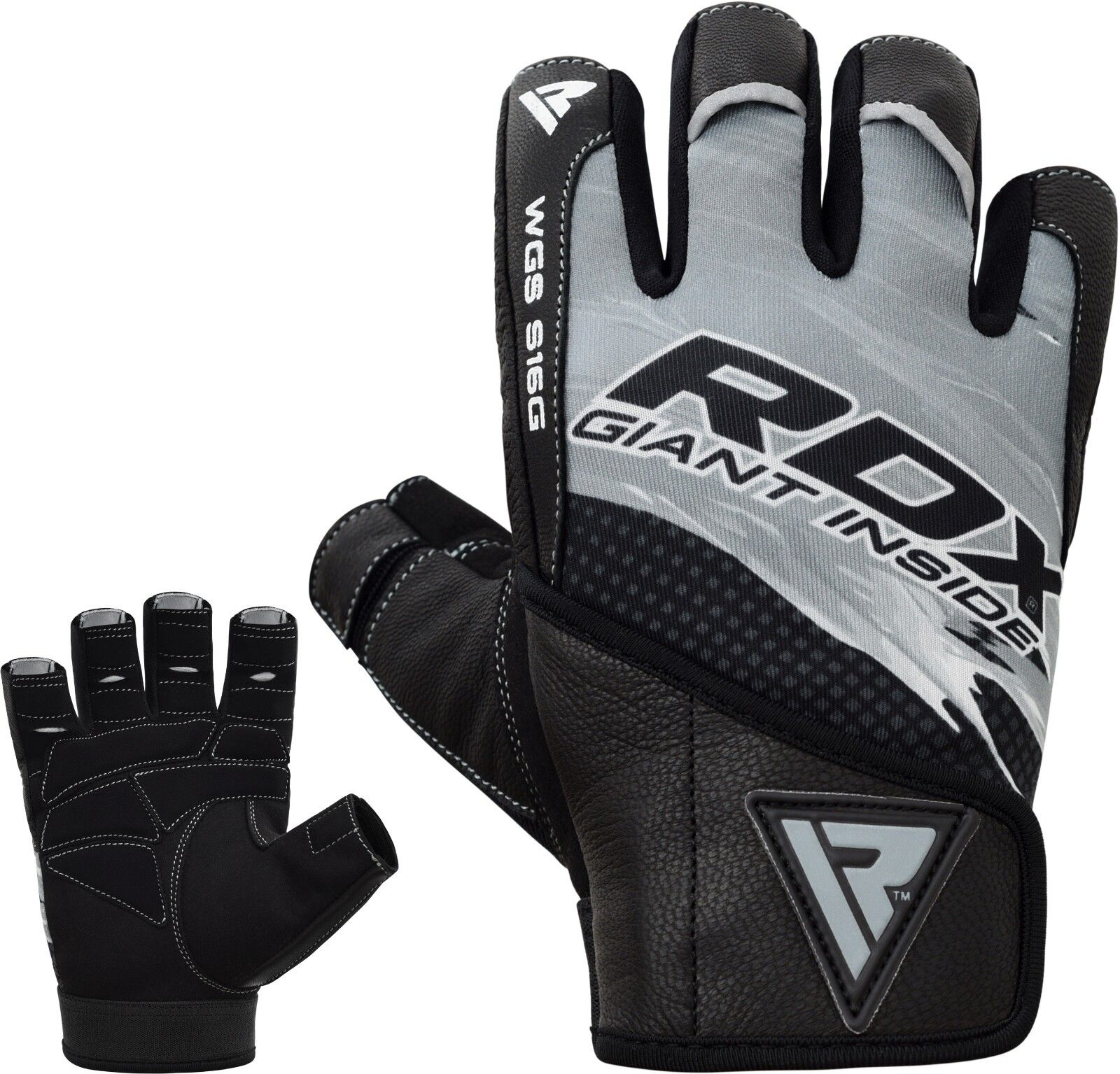 Weight Lifting Gloves Leather Fitness Gym Training Workout: RDX LEATHER WEIGHT Lifting Gym Gloves Training Fitness