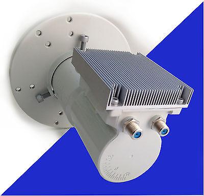 C-band LNBF C2W-PLL Dual 2 Output Phase Lock Loop Wideband 3.4 - 4.2GHz Wideband