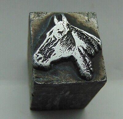 Printing Letterpress Printers Block Horse Head With Ears Up