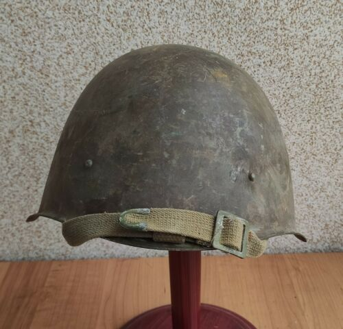 Original Russian Military Soviet Army WWII SSh40 type Steel Helmet not restored