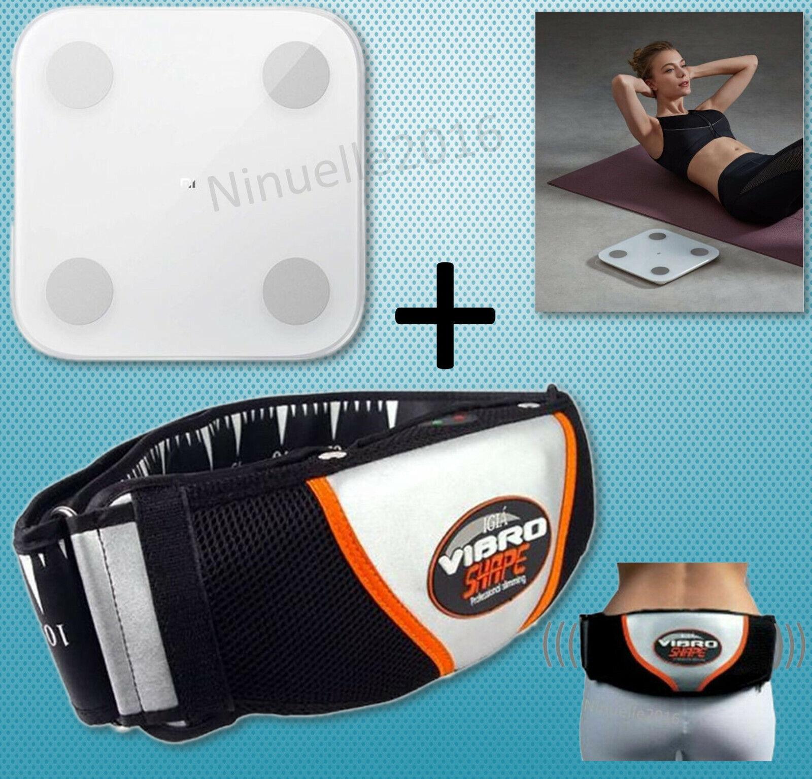 Massagegürtel Vibro Shape Bauchmuskeltrainer + Körperanalysewaage Xiaomi Mi, BMI