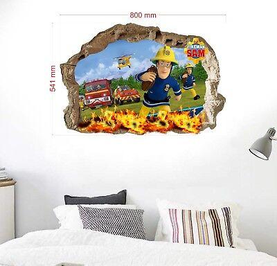 Feuerwehrmann Sam Wandtattoo  Fireman Sam wall stickers Wandaufkleber 54X80cm (Fireman Tattoo)